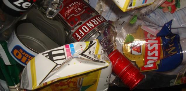 Aufräumen nach der Party
